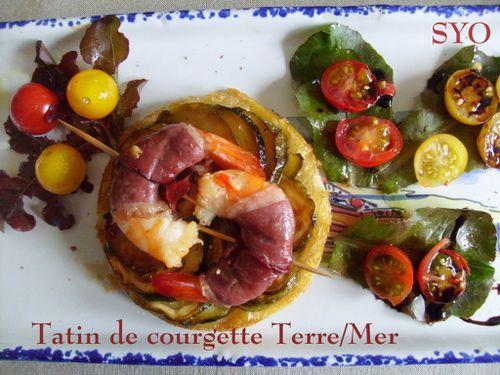 Tatin de courgette- terre-mer-huile orange-Mamigoz