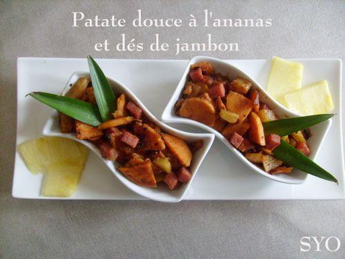 Patate douce à l'anannas et dés de jambon blanc-Mamigoz