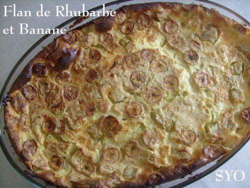 Flan de rhubarbe et banane de Mamigoz