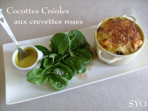 Petites Cocottes Créoles aux crevettes roses-présentation