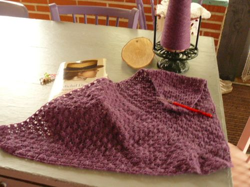 Encours le south bay shawlette myricoud - Devidoir a cocon ...