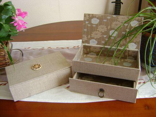 cartonnage boîtes à bijoux Yvette