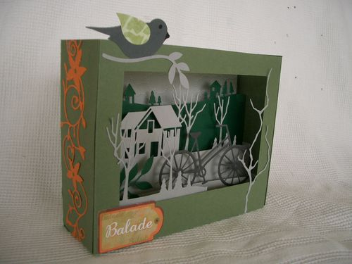 carte pop up paysage Colette R