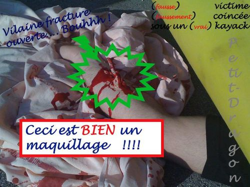 fausse blessure
