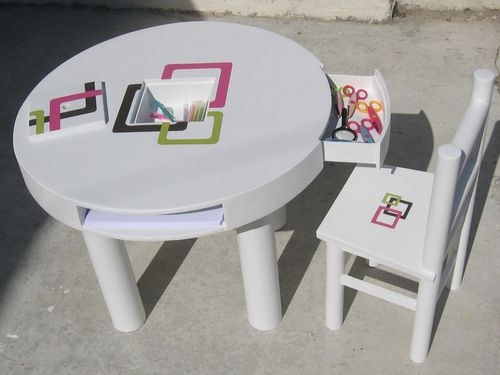 table et chaise en carton 019