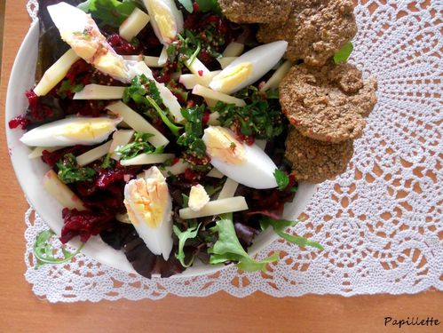 salade oeuf betterave emmental