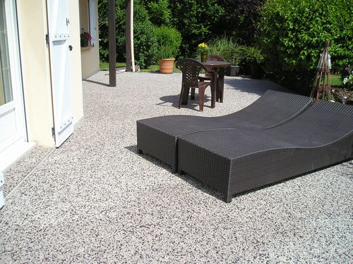 terrasse de moquette de pierre en marbre label r sine la r sine epoxy decorative beton cire. Black Bedroom Furniture Sets. Home Design Ideas