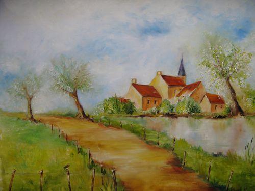 Aquarelles et huiles v ronique moret toutes les quinzaines je vous invite d couvrir une - Paysage peinture facile ...