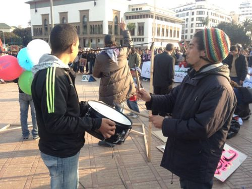 Chants and music in Casablanca's main square