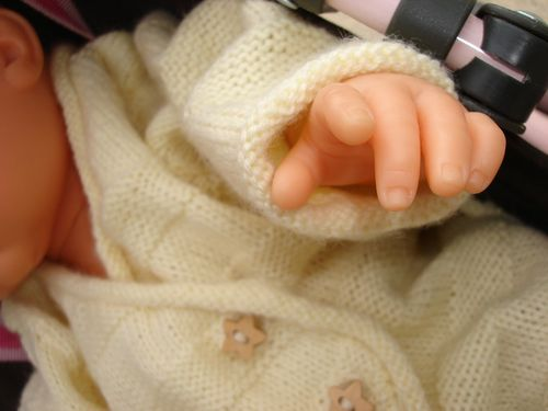 brassiere naissance tricot jaune super baby phildar