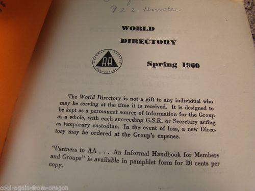 HISTOIRE 812a world directory 1960