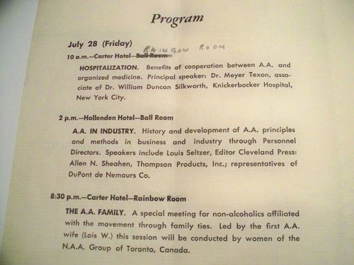 HISTOIRE 155d 1st international conference cleveland 1950