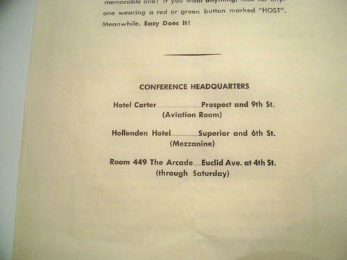 HISTOIRE 155g 1st international conference cleveland 1950