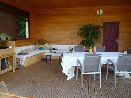 Terrasse couverte am nag e notre maison ossature bois en p rigord pourpre - Terras amenagee ...