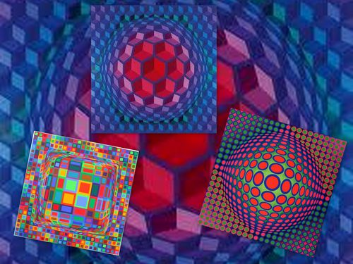 Montage Vasarely