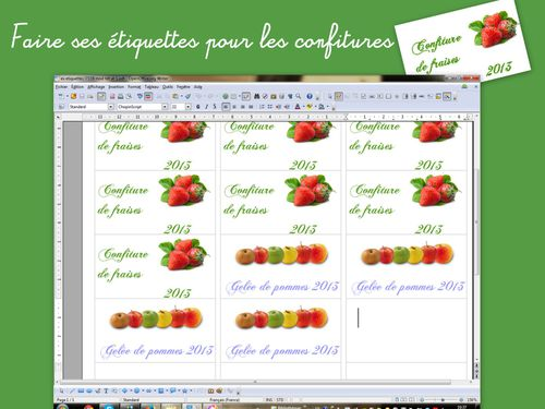 cr er ses tiquettes pot de confitures avec open office
