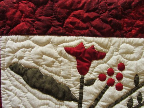 Mon bouquet rouge quilting bordure