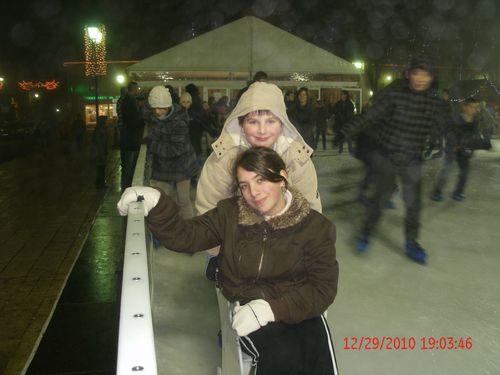 Mélyssa et Rémy à la patinoire 29-12-2010