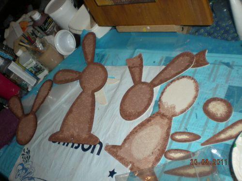 lapins de paques pochés