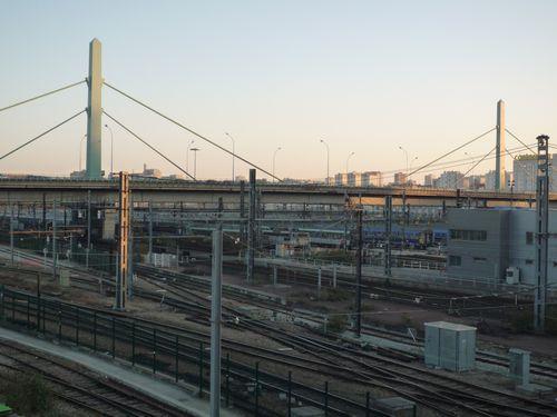 Paysage ferroviaire aux environs de la gare d'Asterlitz et