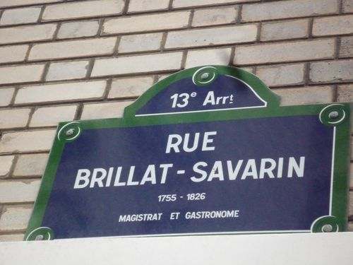 Plaque de rue Brillat Savarin