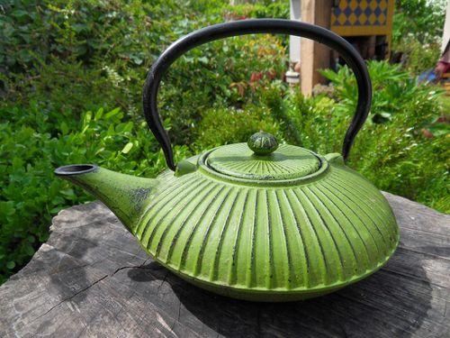 Les th i res japonaises en fonte poussi re du sud - Theiere en fonte utilisation ...