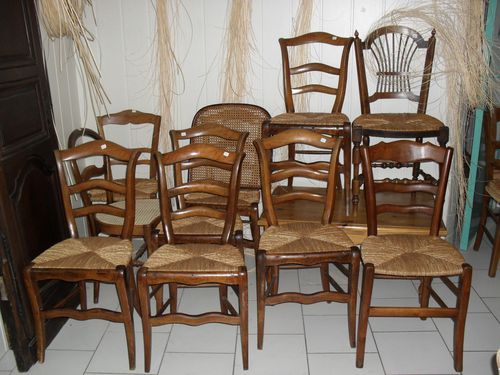 straw chairs et french caning