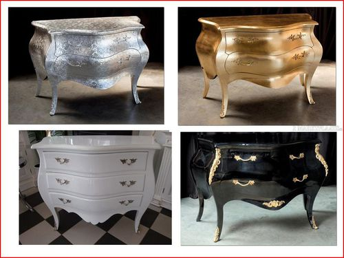 mobilier de style baroque aux clous d 39 argent 29260 le. Black Bedroom Furniture Sets. Home Design Ideas