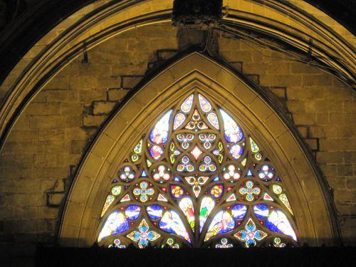 Barri Gotic La Seu vitrail