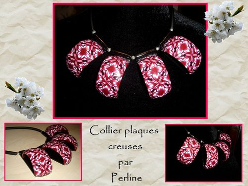 collier plaque rouge