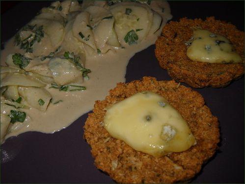 Galette okara et polenta