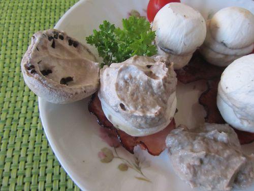 champignons farçis