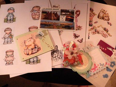 13 échange carte postale DENISE mamapah pour MIOU 2
