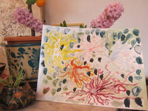 les fleurs de tokio aquarelle atelier d'art enfants catheri