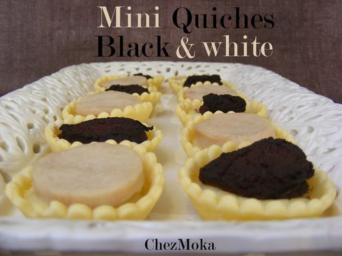 Mini quiches Black and White