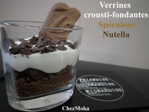 Verrines spéculoos Nutella fromage blanc