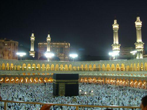 la Mecque vue du ciel