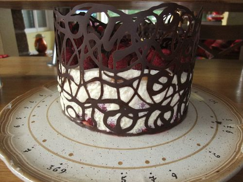 d 233 coration facile de gateau dentelle en chocolat ker