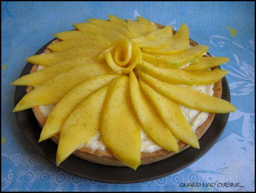 tarte soleil à la mangue