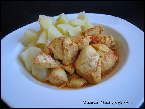 Poulet au curry thermomix quand nad cuisine - Thermomix ne pese plus ...