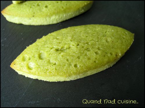 financiers au thé matcha1