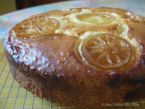 Gâteau orange noix de coco citron confit