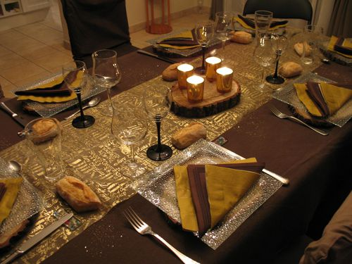 Reveillon du nouvel an ma table mon grain de sel breton - Deco de table nouvel an ...