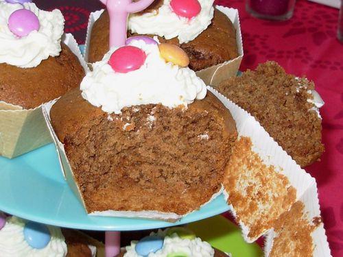 Cupcakes au chocolat au lait & smarties4