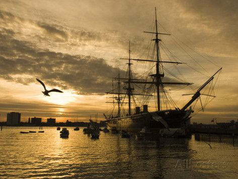 stuart-black-sunset-over-the-hard-and-hms-warrior-portsmout.jpg