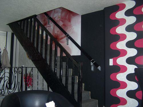 r novation et d coration de ma salle vivre d coration par le papier peint tapiss en. Black Bedroom Furniture Sets. Home Design Ideas