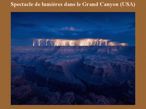 spectacle lumière grand canyon