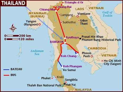 13 Map of Thailand