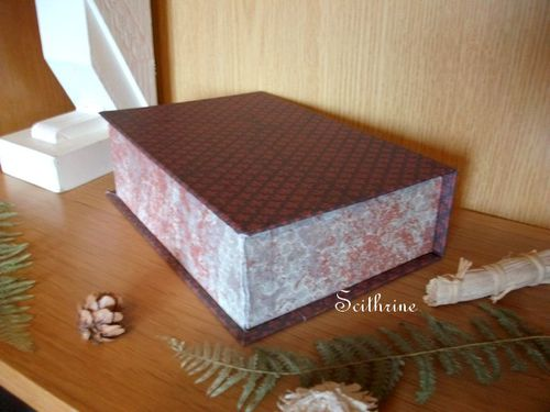 Top Une boîte livre en cartonnage - Le blog de Scithrine JG48