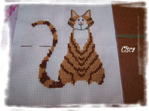 broderie chat 1
